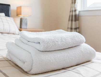 Grangemouth Property Lets services apartments weekly and linen and towels are changed.