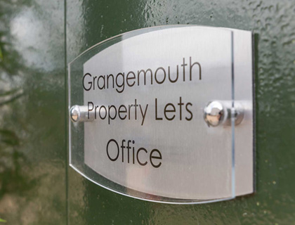 The Grangemouth Property Lets office - open 4 days a week.