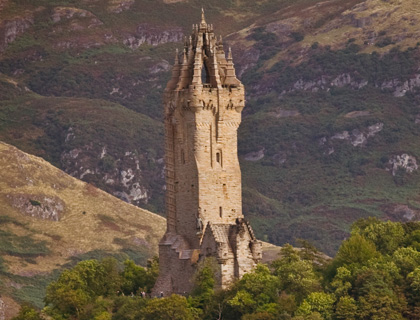 The National Wallace Monument is one of Stirling's most distinctive landmarks.